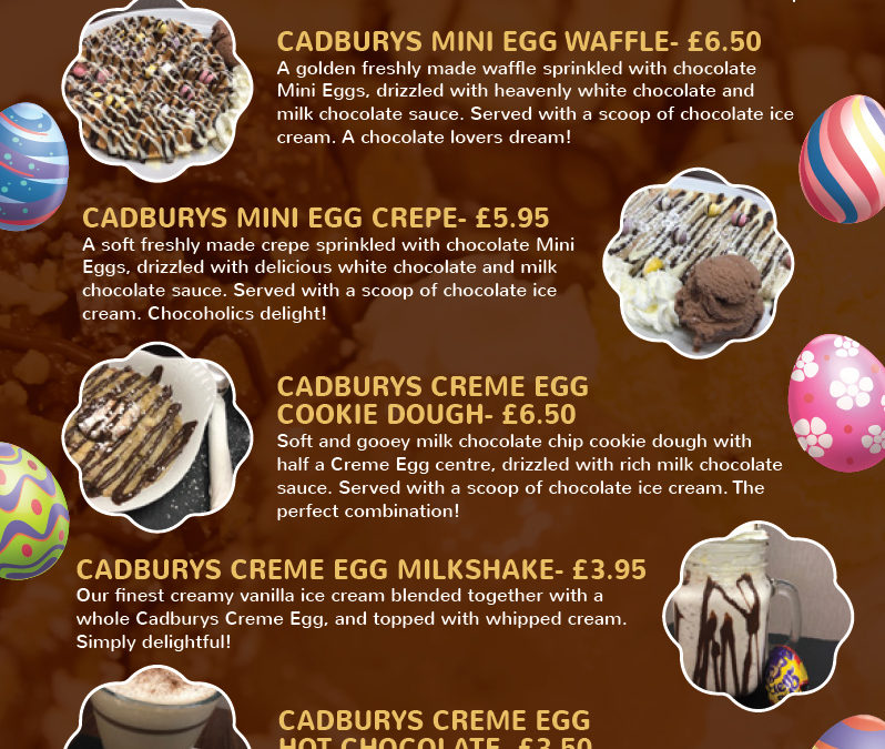 Eggciting announcement – our Easter menu is available!