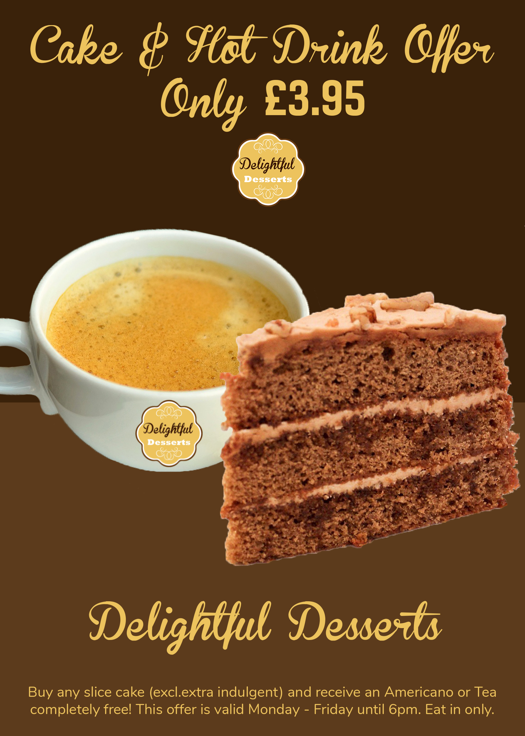 cake and coffee promo