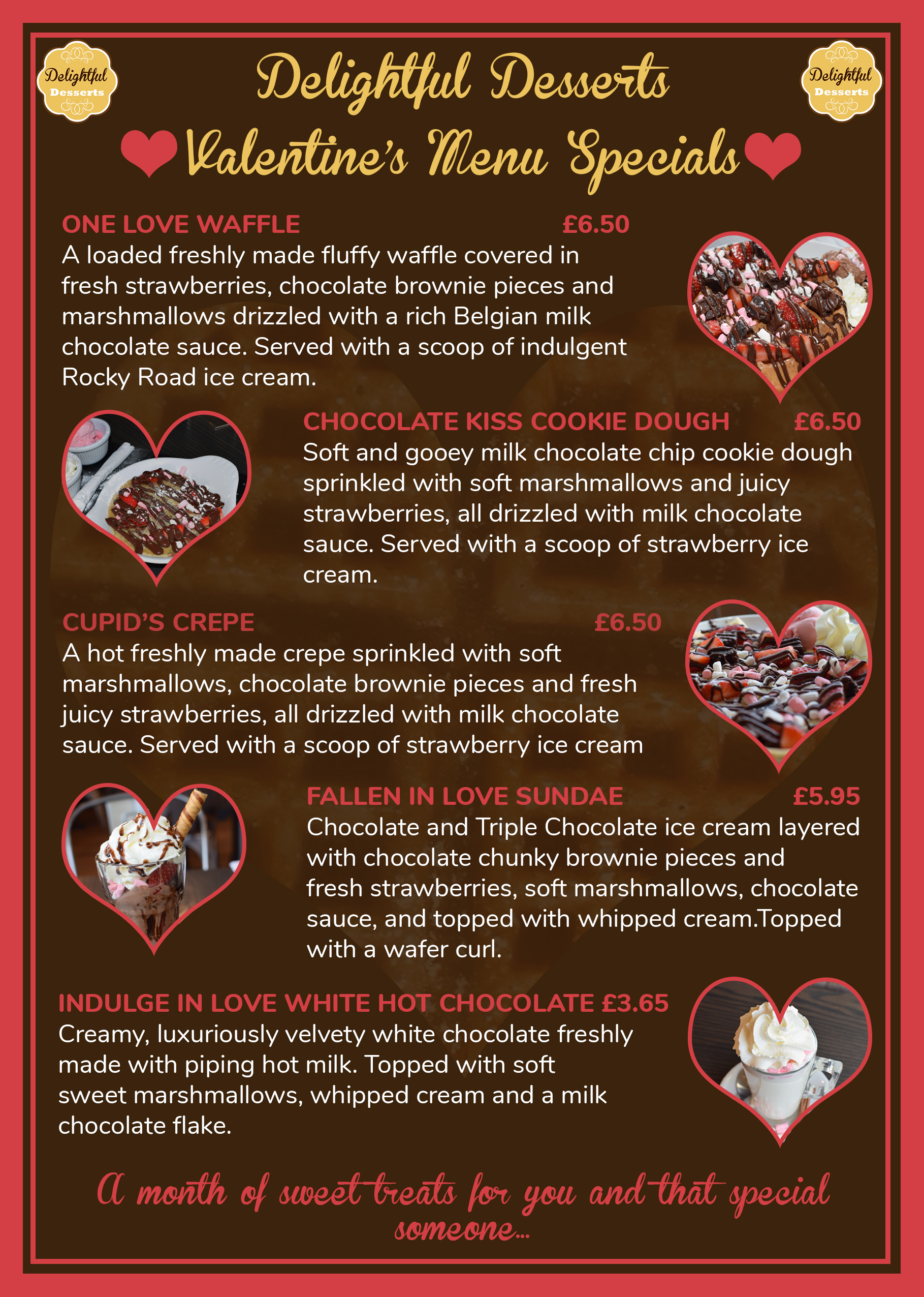 Valentine's Menu: In full.