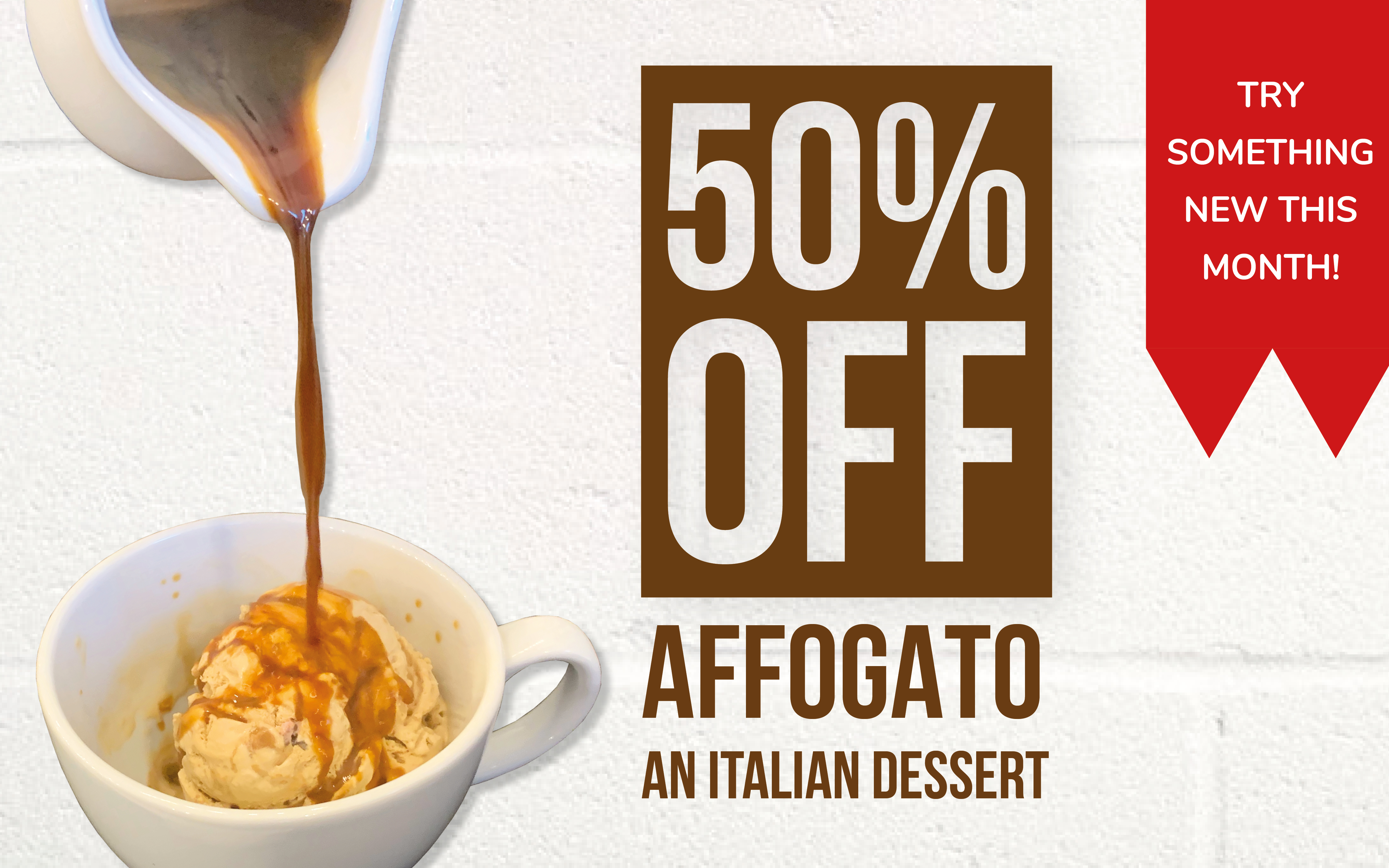 Affogato 50% off