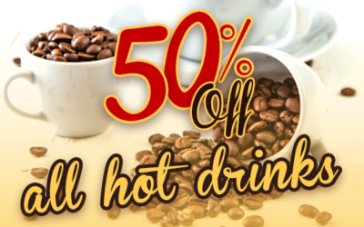 50% Off All Hot Drinks in the January Sale
